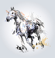 Colored Hand drawing horse vector image