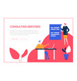 consulting services - flat design style colorful vector image vector image