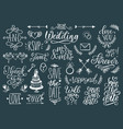 cute decorations for wedding invitations overlays vector image vector image