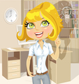 Cute girl with a book in office idea inspiration vector image vector image