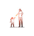 daughter mother angry scold conflict vector image vector image