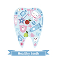 Dental care symbols in the shape of tooth vector image vector image