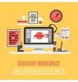 Designer Workspace vector image vector image