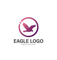 eagle logo design modern eagle logo template vector image