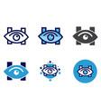 eye icon- eye clinic or hospital sign vector image vector image