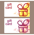 Gift cards templates vector image vector image