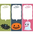 Halloween card set with pumpkin bat ghost vector image vector image
