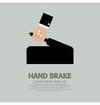 Hand Brake vector image vector image