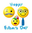 happy fathers day emoji smiley vector image