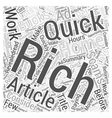 Home of bucks an Ad Word Cloud Concept vector image vector image
