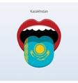 Kazakhstan language Abstract human tongue vector image vector image