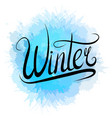 lettering winter written by hand with blue vector image vector image