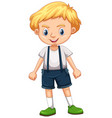 little boy in overall suit vector image vector image