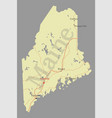 maine detailed exact detailed state map with vector image vector image