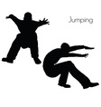 man in Jumping Action pose vector image