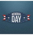 Memorial Day patriotic Label with Text vector image vector image