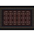 Mottled oriental carpet with original pattern vector image vector image