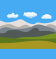 natural cartoon landscape in the flat style vector image vector image