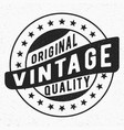original vintage stamp vector image