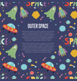 outer space cartoon web banner vector image vector image