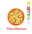 pizza mexican flat icon isolated on white vector image