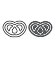 pretzel line and glyph icon food and delicious vector image