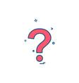 question mark icon design vector image vector image