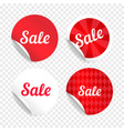 red sale stickers promo badges vector image