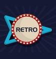 retro frame icon vector image vector image