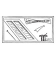 roman writing materials or tools for writing vector image vector image
