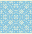 seamless geometric pattern with snowflakes flat vector image