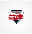 secure car logo designs concept with star for vector image vector image