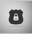 shield security icon isolated flat design vector image vector image