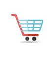 shopping mall cart isolated icon vector image vector image