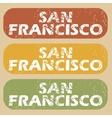 Vintage San Francisco stamp set vector image vector image