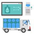 water delivery elements drink bottle vector image vector image