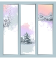 Watercolor Winter Banners vector image vector image