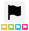 Waving flag icon vector image