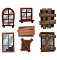 window in good and bad conditions vector image vector image