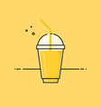 yellow healthy smoothie vector image