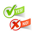 yes and no check marks vector image vector image