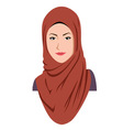 Young Beautiful Islamic Girl vector image vector image