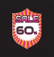 sale discount vector image