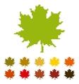 Pixel maple leaf vector image