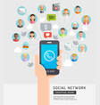social network conceptual flat style vector image