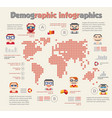 demographic infographic with people vector image