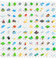 100 globe icons set isometric 3d style vector image vector image