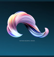 3d abstract colorful fluid design vector image