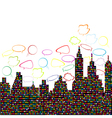 abstract colored city vector image vector image