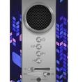 Abstract Speaker Concept Design vector image